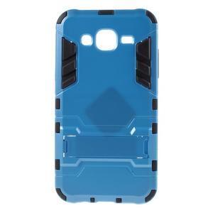Odolný kryt 2v1 so stojanom pre Samsung Galaxy J5 - modrý - 1