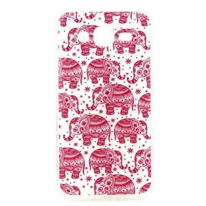Imda gélový obal pre mobil Samsung Galaxy J5 - ružoví slony - 1