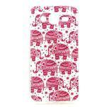 Imda gélový obal pre mobil Samsung Galaxy J5 - ružoví slony - 1/3