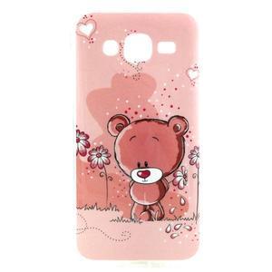 Imda gélový obal pre mobil Samsung Galaxy J5 - medvídek - 1