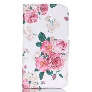 Pictu peňaženkové puzdro pre Samsung Galaxy J5 - kvety - 1