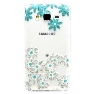 Trasnparent gelový obal na Samsung Galaxy J5 - koláž květin - 1