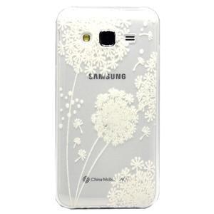 Trasnparent gelový obal na Samsung Galaxy J5 - pampeliška - 1