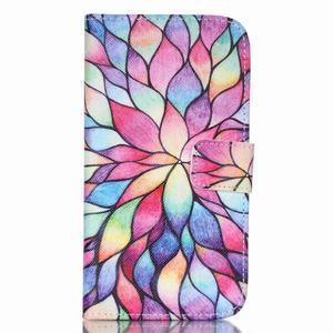 Pictu peňaženkové puzdro pre Samsung Galaxy J5 - farebné lístky - 1