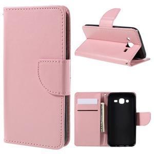 Peňaženkové puzdro pre mobil Samsung Galaxy J5 - ružové - 1