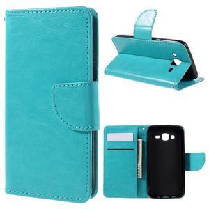 Peňaženkové puzdro pre mobil Samsung Galaxy J5 - modré - 1