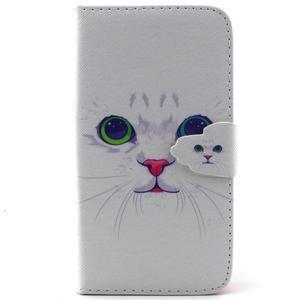 Knížkové puzdro pre mobil Samsung Galax J5 - mačička - 1