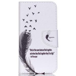 Emotive puzdro pre mobil Samsung Galaxy J5 - vtáčie pierko - 1