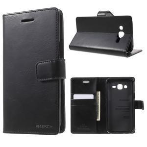 Mercury PU kožené pouzdro na mobil Samsung Galaxy J5 - černé - 1