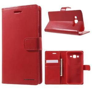 Mercury PU kožené puzdro pre mobil Samsung Galaxy J5 - červené - 1