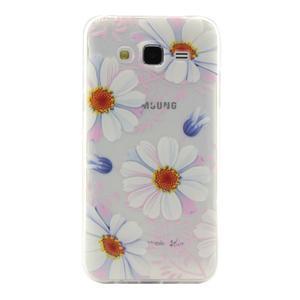 Ultratenký slim gelový obal na Samsung Galaxy J5 - sedmikrásky - 1