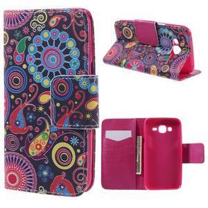 Dairy peňaženkové puzdro pre Samsung Galaxy J5 - farebné kruhy - 1