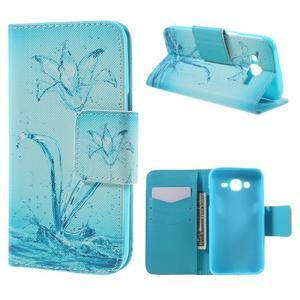 Dairy peňaženkové puzdro pre Samsung Galaxy J5 - vodní kvet - 1