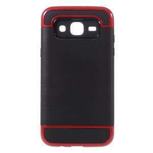 Odolný obal na mobil Samsung Galaxy J5 - červený - 1