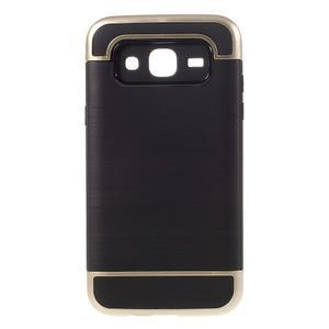 Odolný obal pre mobil Samsung Galaxy J5 - zlatý - 1