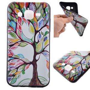 Jelly gélový obal pre mobil Samsung Galaxy J5 - malovaný strom - 1