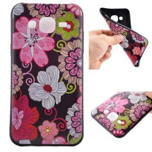Jelly gélový obal pre mobil Samsung Galaxy J5 - koláž kvetin - 1