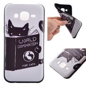 Jelly gelový obal na mobil Samsung Galaxy J5 - kočička čte - 1
