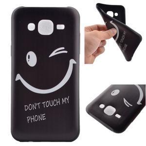 Jelly gélový obal pre mobil Samsung Galaxy J5 - nedotýkať sa - 1