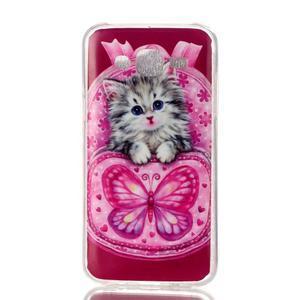 Softy gelový obal na mobil Samsung Galaxy J5 - koťátko - 1