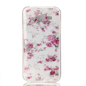 Softy gélový obal pre mobil Samsung Galaxy J5 - kvety - 1