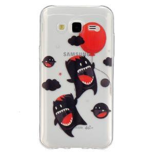 Trans gelový obal na mobil Samsung Galaxy J5 - monters - 1