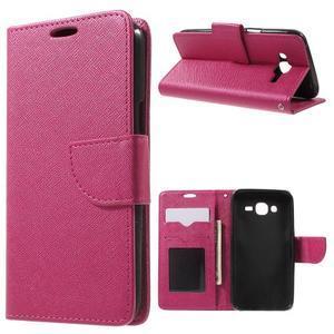 Crossy koženkové pouzdro na Samsung Galaxy J5 - rose - 1