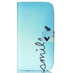 Pictu peňaženkové puzdro pre Samsung Galaxy J5 - smile - 1