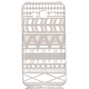 Ultratenký průhledný obal na Samsung Galaxy J5 - geo tvary - 1