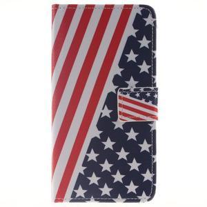 Style peňaženkové puzdro pre Samsung Galaxy J5 (2016) - US vlajka - 1