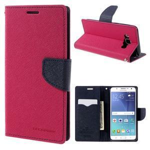 Diary PU kožené pouzdro na mobil Samsung Galaxy J5 (2016) - rose - 1