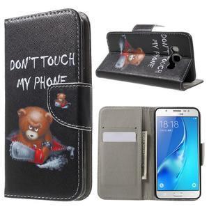 Nice peňaženkové puzdro pro Samsung Galaxy J5 (2016) - zlej méďa - 1