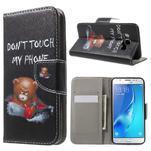 Nice peňaženkové puzdro pro Samsung Galaxy J5 (2016) - zlej méďa - 1/7