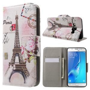 Nice peňaženkové puzdro pro Samsung Galaxy J5 (2016) - Eiffelova veža - 1
