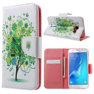 Nice peňaženkové puzdro pro Samsung Galaxy J5 (2016) - vtáčie strom - 1