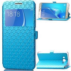 Stars puzdro s okienkom pre mobil Samsung Galaxy J5 (2016) - modré - 1