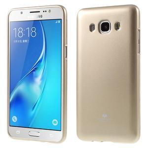 Newsets gélový obal pre Samsung Galaxy J5 (2016) - zlatý - 1