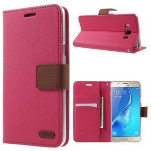 Gentle PU kožené peňaženkové puzdro pre Samsung Galaxy J5 (2016) - rose - 1