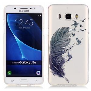 Průhledný obal na mobil Samsung Galaxy J5 (2016) - peříčko - 1