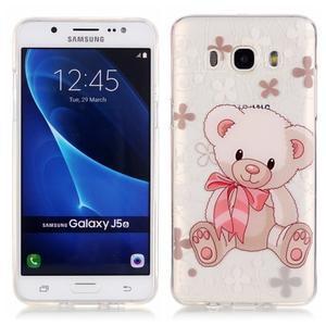 Priehľadný obal pre mobil Samsung Galaxy J5 (2016) - medvídek - 1