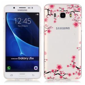 Priehľadný obal pre mobil Samsung Galaxy J5 (2016) - kvitnúca slivka - 1