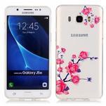 Průhledný obal na mobil Samsung Galaxy J5 (2016) - kvetoucí větvička - 1/4