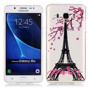 Priehľadný obal pre mobil Samsung Galaxy J5 (2016) - Eiffelova veža - 1