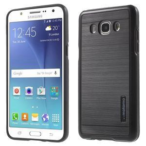 Gélový obal s plastovou výstuhou pre Samsung Galaxy J5 (2016) - čierný - 1