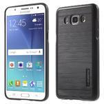 Gélový obal s plastovou výstuhou pre Samsung Galaxy J5 (2016) - čierný - 1/6
