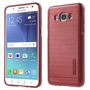 Gélový obal s plastovou výstuhou pre Samsung Galaxy J5 (2016) - červený - 1