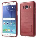 Gélový obal s plastovou výstuhou pre Samsung Galaxy J5 (2016) - červený - 1/7
