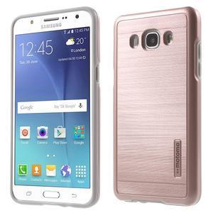 Gélový obal s plastovou výstuhou pre Samsung Galaxy J5 (2016) - ružový - 1