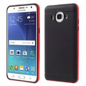 Hybridní obal 2v1 na mobil Samsung Galaxy J5 (2016) - červený - 1