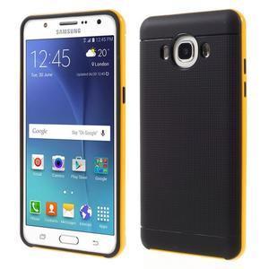 Hybridní obal 2v1 na mobil Samsung Galaxy J5 (2016) - žlutý - 1